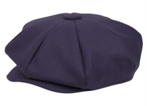 SOLID COLOR WOOL BIG APPLEJACK NEWSBOY CAP BA1778