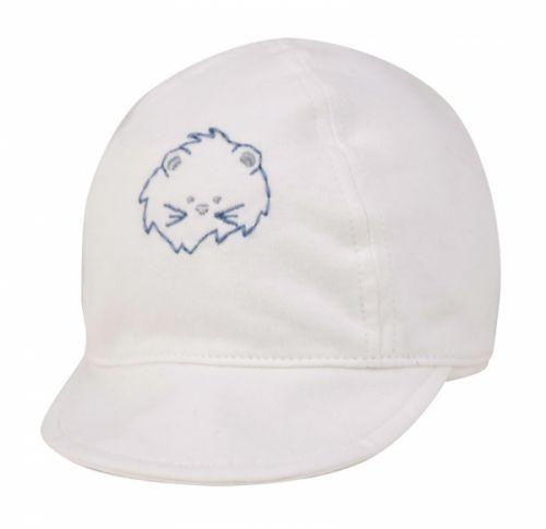 WHITE COTTON BABY CAP
