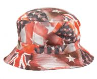 MULTI FLAG REVERSIBLE BUCKET HATS BK2126
