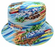 TROPICAL PRINT REVERSIBLE BUCKET HATS BK2131