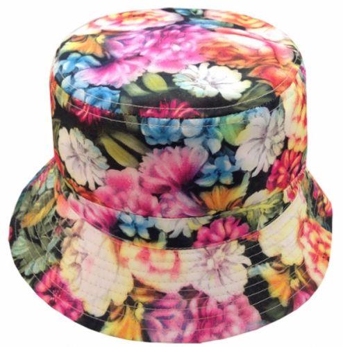 FLORA PRINT REVERSIBLE BUCKET HATS BK2133