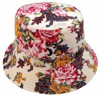 FLORA PRINT BUCKET HATS BK2135 WHITE