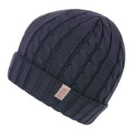 CHUNKY CABLE KNIT BEANIE W/FLEECE LINING BN1722