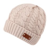 CHUNKY CABLE BEANIE WITH SHERPA FLEECE LINING BN2003