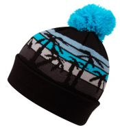 KNIT TROPICAL BEANIE HAT W/POM POM BN2134