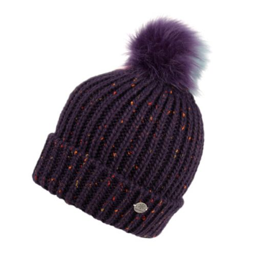513688a6210 CABLE KNIT BEANIE WITH MULTI COLOR POM POM   SHERPA LINING BN2273 - Epoch  Fashion Accessory