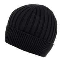 MEN'S CABLE BEANIE WITH SHERPA FLEECE LINING BN2384B
