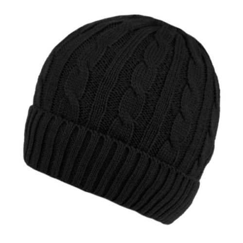 MEN'S CABLE BEANIE WITH SHERPA FLEECE LINING BN2385B