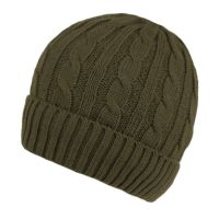 MEN'S CABLE BEANIE WITH SHERPA FLEECE LINING BN2385A
