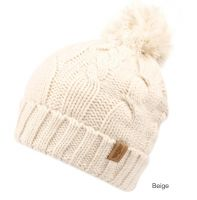 HEAVY KNIT BEANIE WITH POM POM & SHERPA LINING BN2751