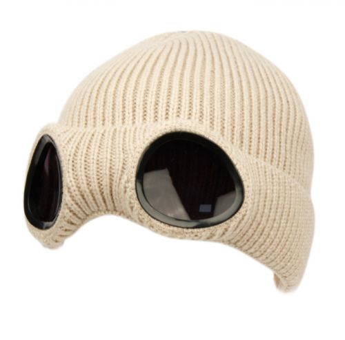 UNISEX WINTER SKI BEANIE WITH GLASSES GOGGLE & SHERPA LINING BN3024