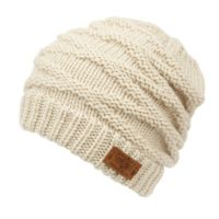 CRISS CROSS PATTERN KNIT BEANIE BN3026
