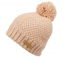 WOOL BLEND CABLE KNIT POMPOM BEANIE W/SHERPA LINING BN4050