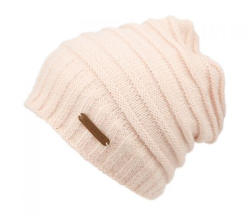 ROLLED STRIPE DESIGN KNIT SLOUCHY BEANIE W/SHERPA LINING BN4058