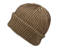 TWO TONE RIBBED KNIT CUFF BEANIE BN4070