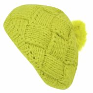 CHUNKY YARN KNIT BERETS WITH POMPOM BR1660