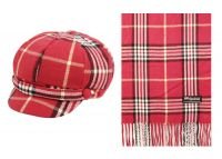 CABBIE HATS AND SCARF SETS CB011-1SET (ASST)