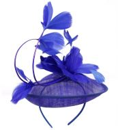 SINAMAY FASCINATOR WITH FLOWER ON THE TOP CC2242