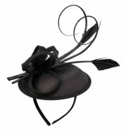 SINAMAY FASCINATOR WITH RIBBON TRIM CC2243