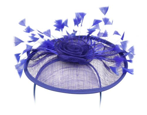 SINAMAY FASCINATOR WITH FLOWER & FEATHER TRIM CC4031