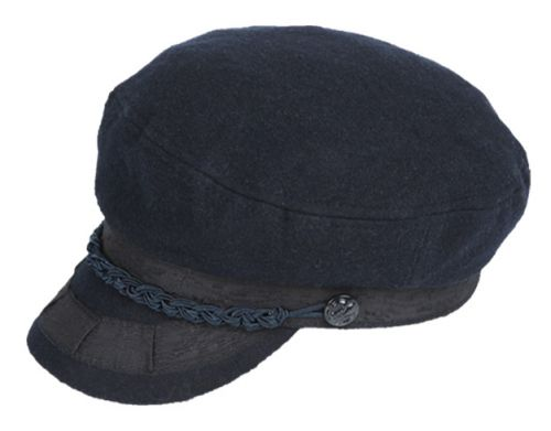 WOOL GREEK FISHERMAN HATS WITH BRAID BAND CD1970