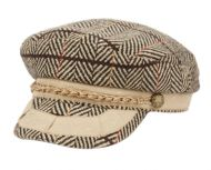 HERRINGBONE WOOL GREEK FISHERMAN HATS WITH BRAID BAND CD5034