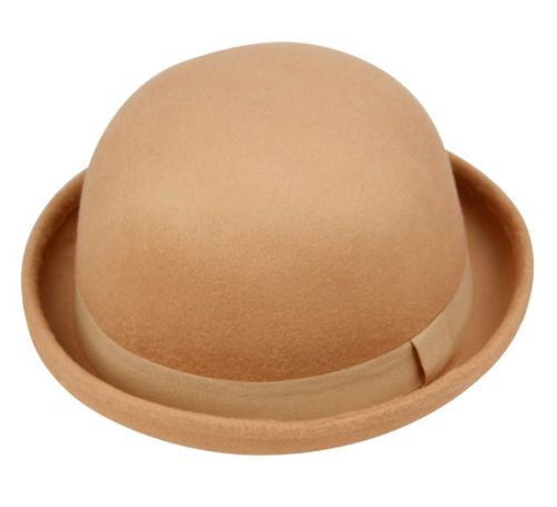 LADIES BOWLER HATS WITH GROSGRAIN BAND CL2180