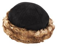 WINTER FAUX SUEDE WITH FUR CUFF HATS CL2192