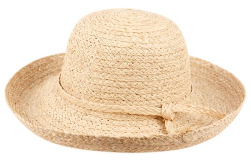 RAFFIA STRAW CLOCHE HATS WITH SELF BAND CL2731