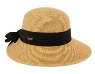 PAPER STRAW BRAID CLOCHE HATS WITH GROSGRAIN BAND CL2916
