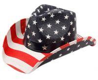 AMERICAN FLAG COWBOY HATS COW2027