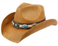 FASHION COWBOY HATS W/TRIM BAND & STUDS COW2724