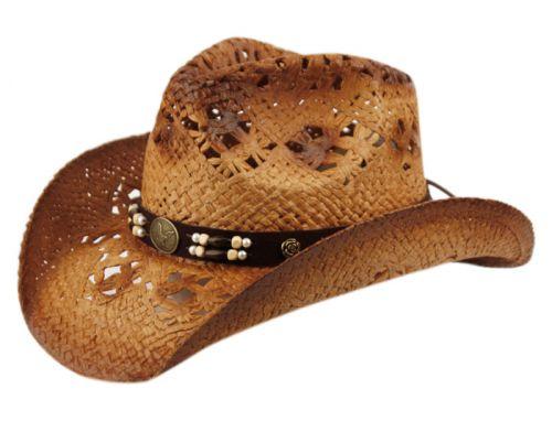 FASHION COWBOY HATS W/TRIM BAND & STUDS COW2936