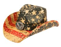 AMERICAN FLAG COWBOY HATS COW4033