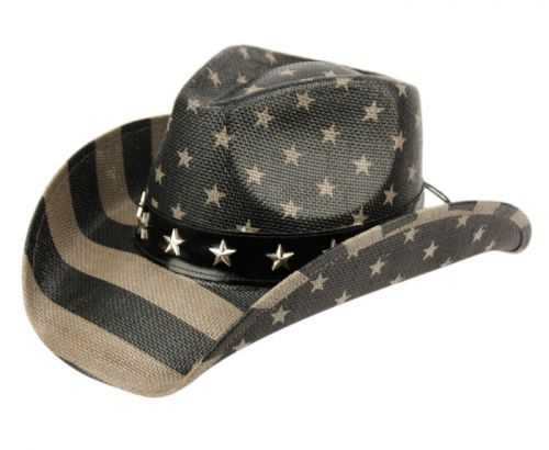 AMERICAN FLAG COWBOY HATS COW4034