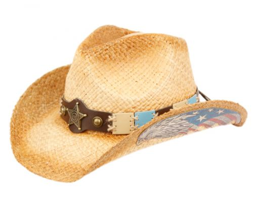 FASHION COWBOY HATS W/TRIM BAND & STUDS COW4036