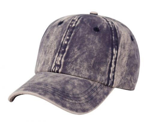 VINTAGE WASHED COTTON BASEBALL CAP WITH METAL BUCKLE CP0340