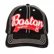 VINTAGE COTTON BASEBALL CAPS WITH CITY BOSTON CP1874