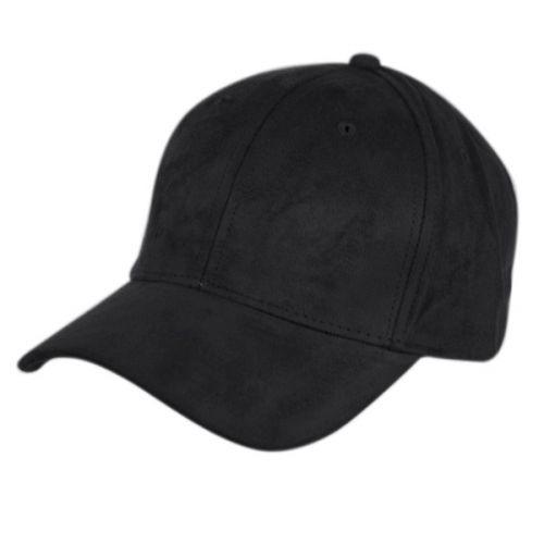 FAUX SUEDE SIX PANEL PLAIN CAP CP2392BK
