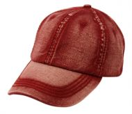 HEAVY STITCH WASHED COTTON CAP WITH STRAPBACK CP2405