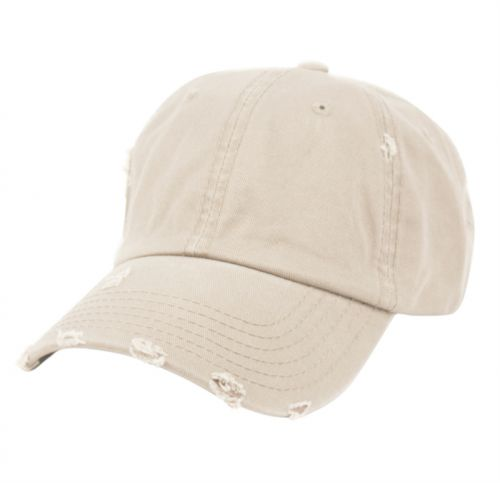 DISTRESSED WASHED COTTON BASEBALL CAP CP2764