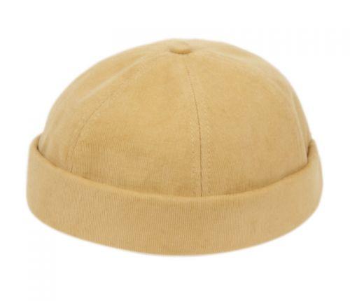 ROLLED CUFF RETRO SKULLCAP COTTON CORDUROY CAP BN4082