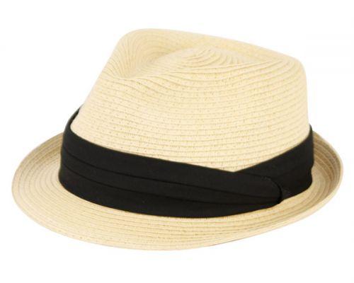 STRAW BRAID FEDORA HATS F1862