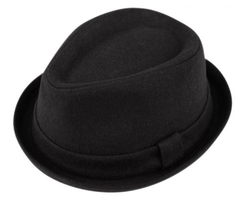 OVAL CROWN WOOL BLEND FEDORA W/SELF FABRIC BAND F1967