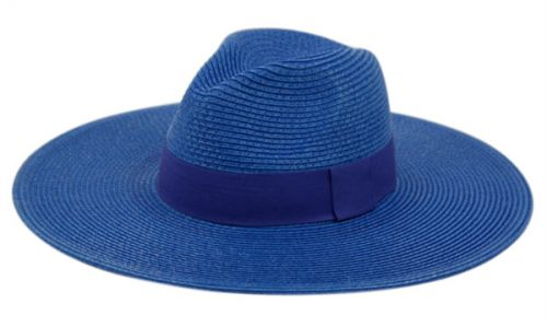 WIDE BRIM BRAID PAPER STRAW PANAMA FLOPPY HATS F2097