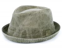 WASHED COTTON FEDORA HATS F2232