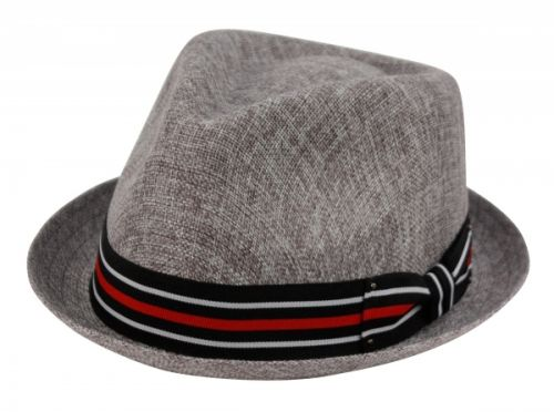 SMALL BRIM LINEN COTTON FEDORA HATS WITH BAND F2261 - Epoch Fashion  Accessory f9f2ebab96d