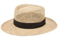 GAMBLER STRAW HATS WITH GROSGRAIN BAND F2272