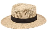 GAMBLER STRAW HATS WITH BLACK BAND F2272