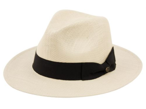PANAMA PAPER STRAW HATS WITH GROSGRAIN BAND F2690